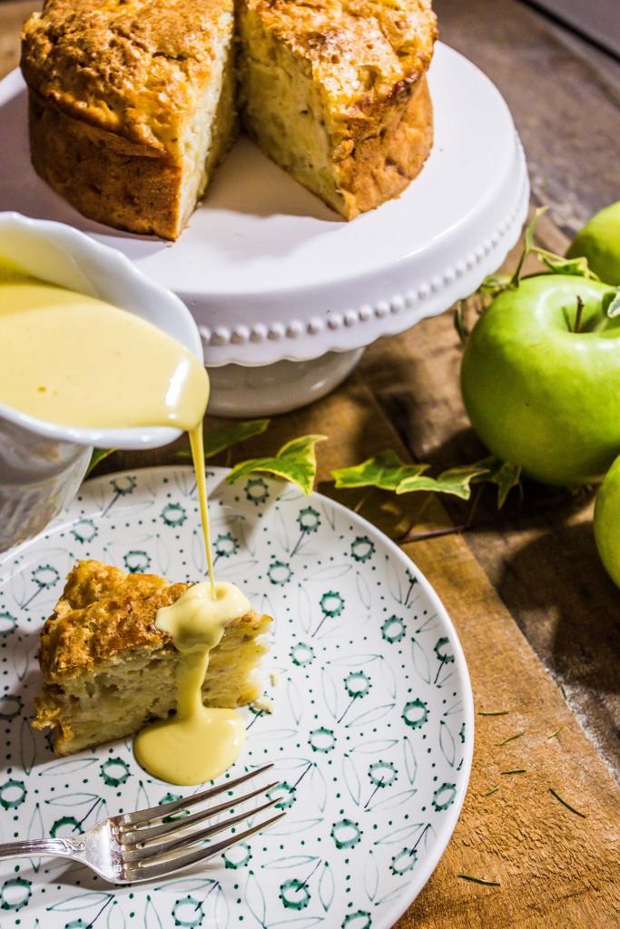 Torta di mele alla scozzese con crema inglese alla vaniglia-7