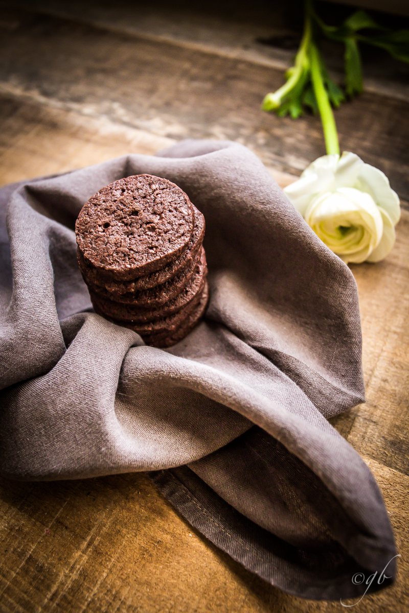 Dark chocolate and sea salt tender cookies