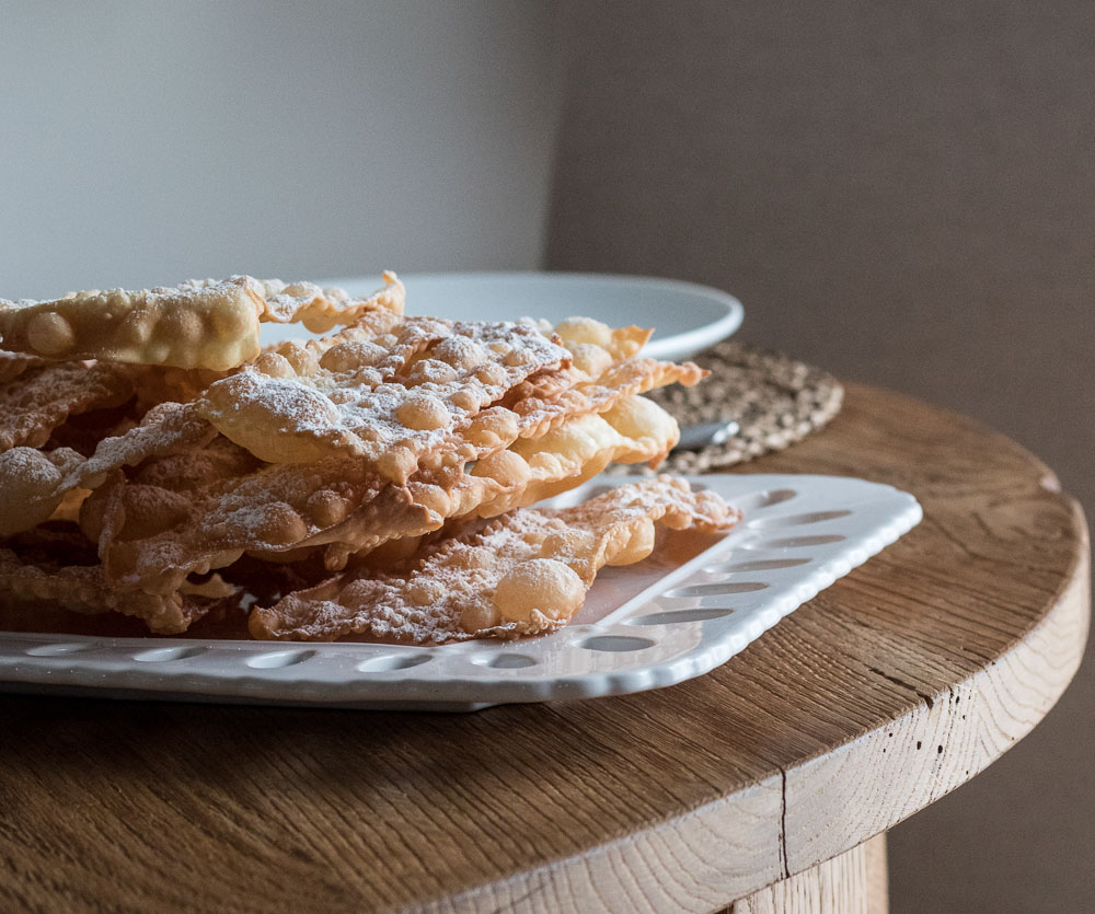 recipe of typical italian carnival chiacchere