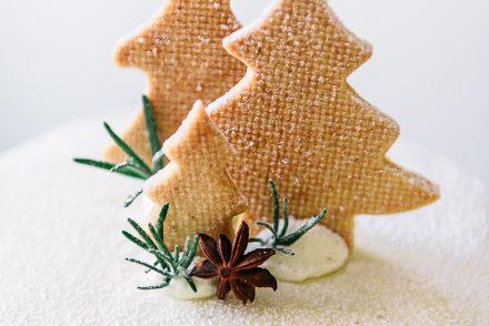Torta per Natale con alberelli