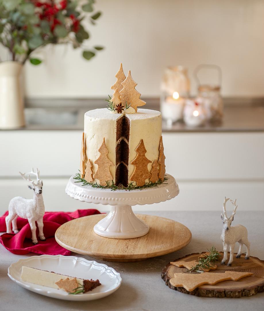 Torta per Natale con alberelli, Merry Cake