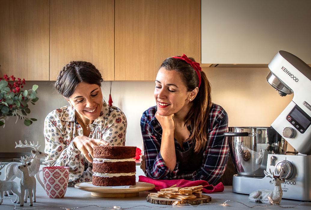 Lucia e Francesca, Viaggi a Merenda, la Torta per Natale con alberelli