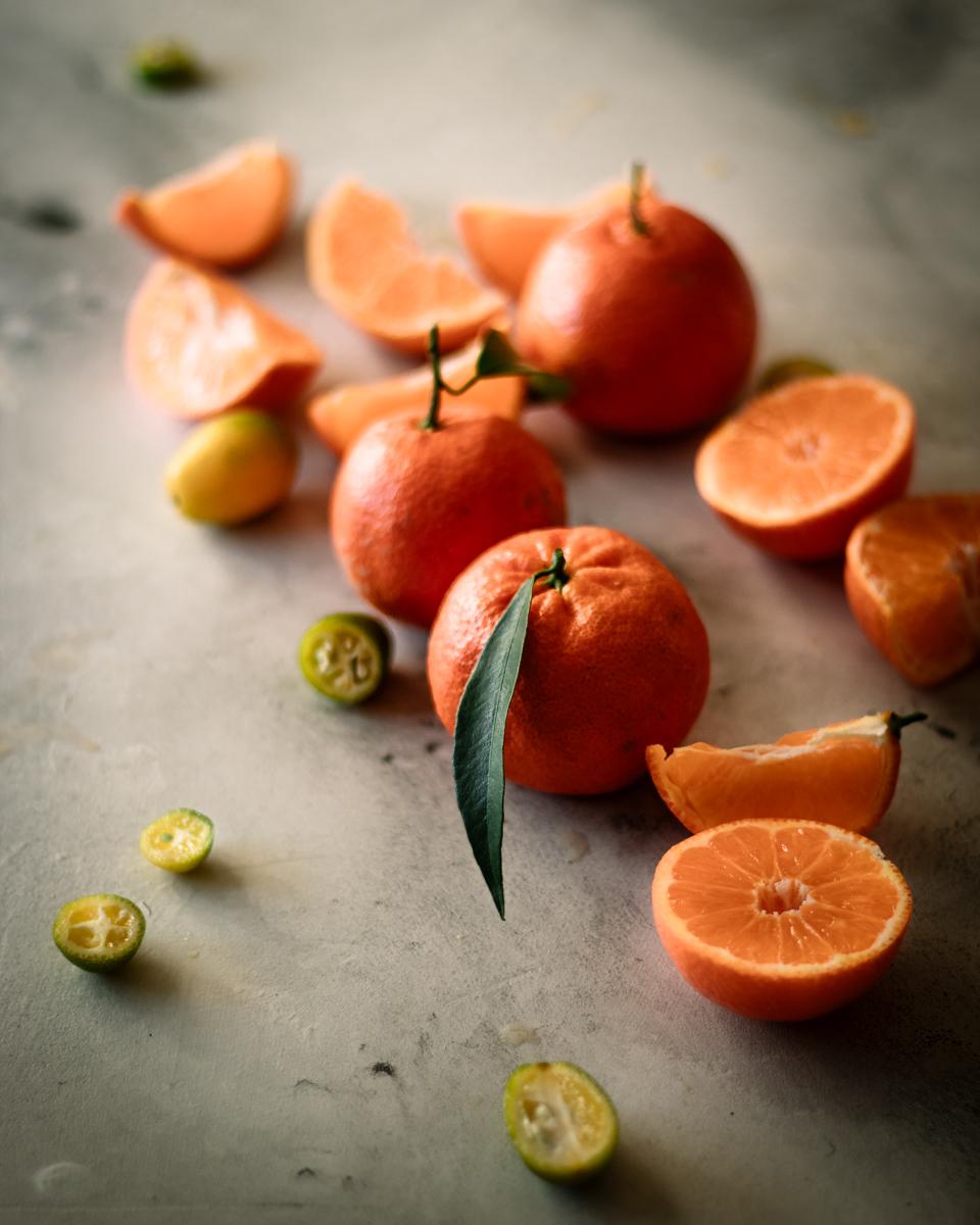 crostata con meringa italiana e crema alle clementine