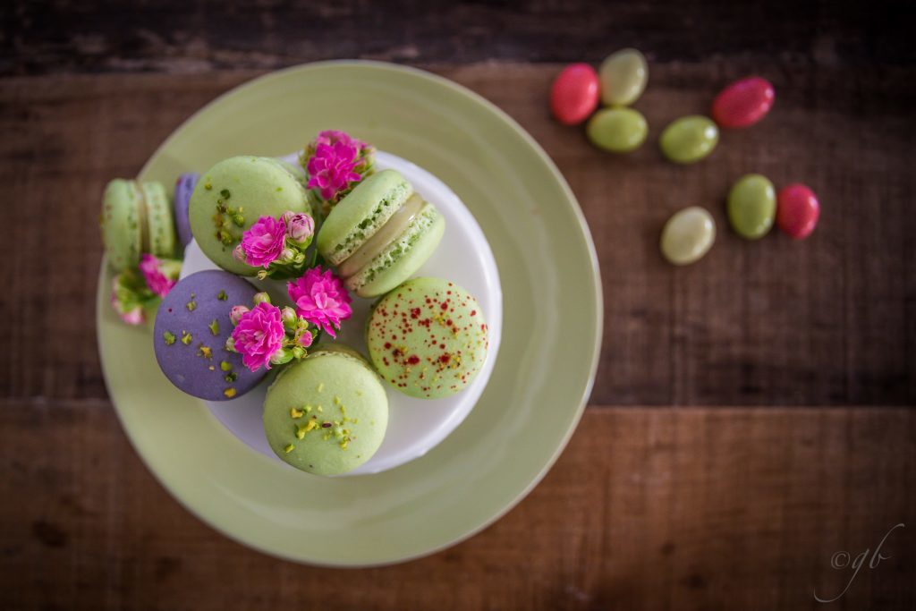 macaron al pistacchio