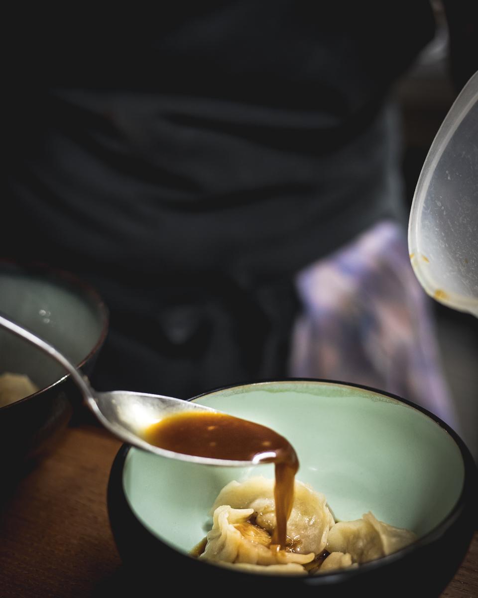 Gyoza ravioli di carne giapponesi