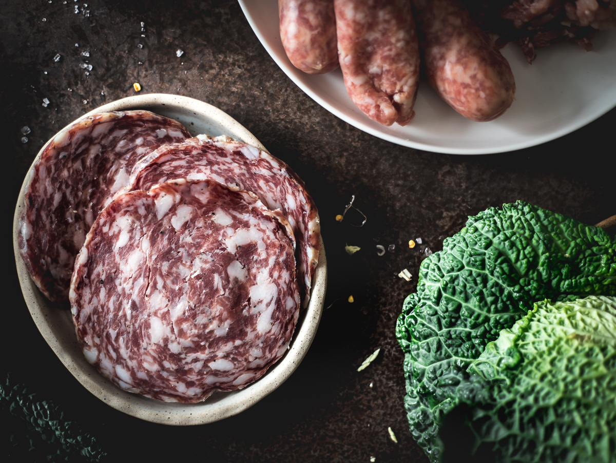 Ingredienti per i Gyoza ravioli di carne giapponesi