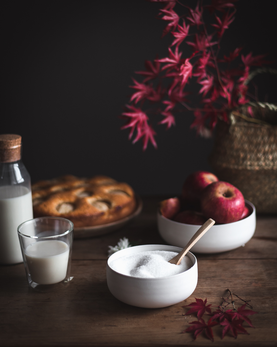 Blitz di mele soffice con latte e rum