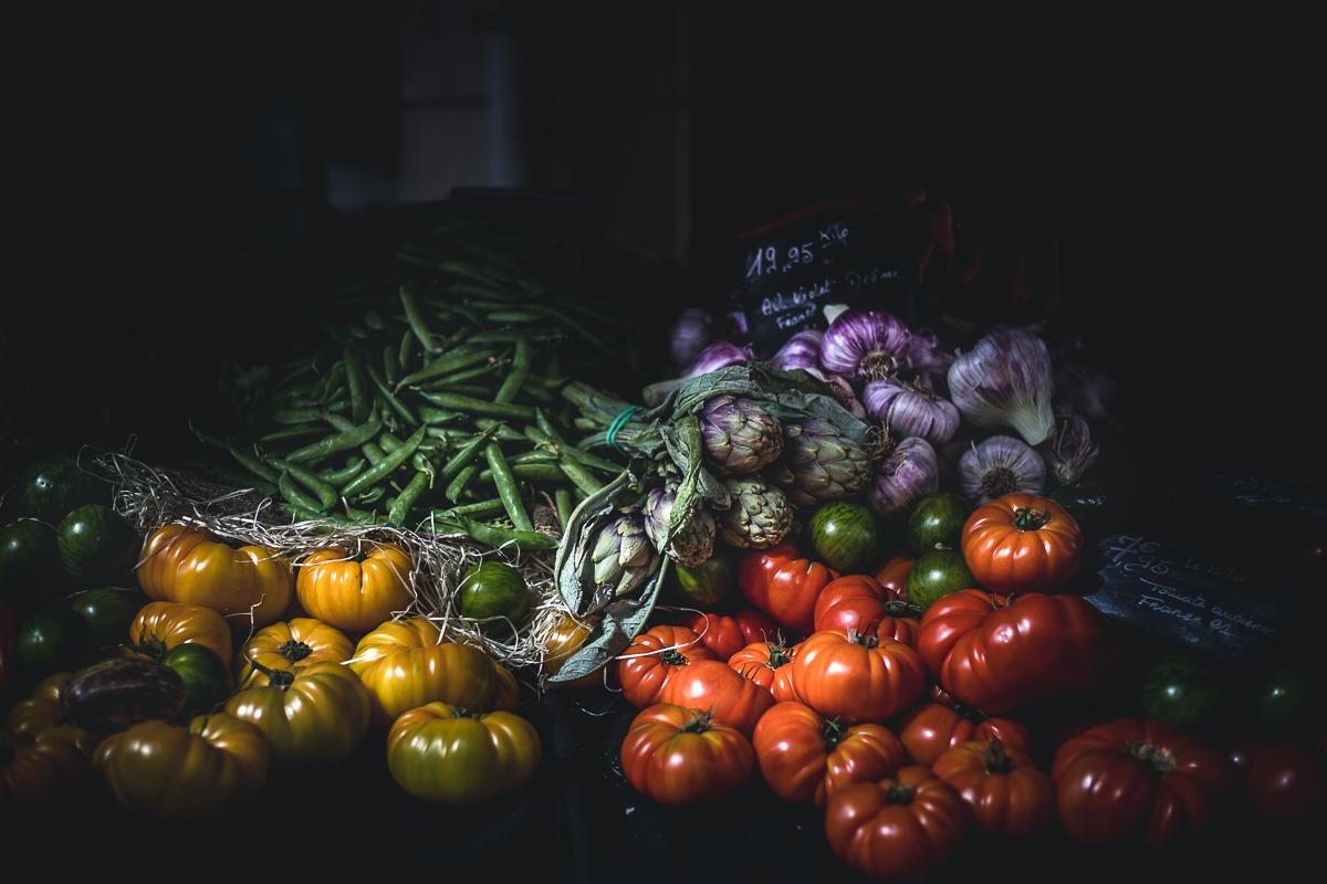 veggies moody food photography