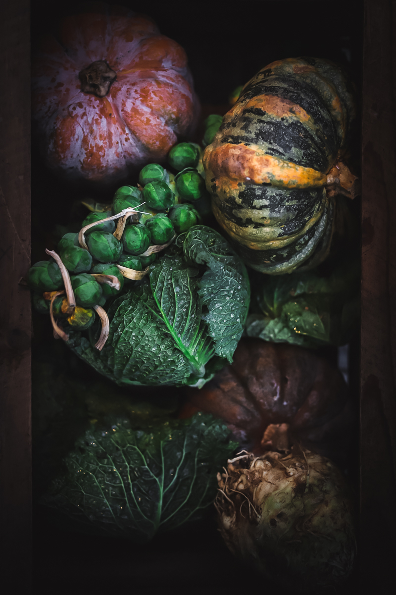 pumpkins moody food photography
