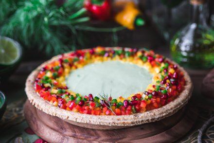 pie salata ai coriandoli di verdure