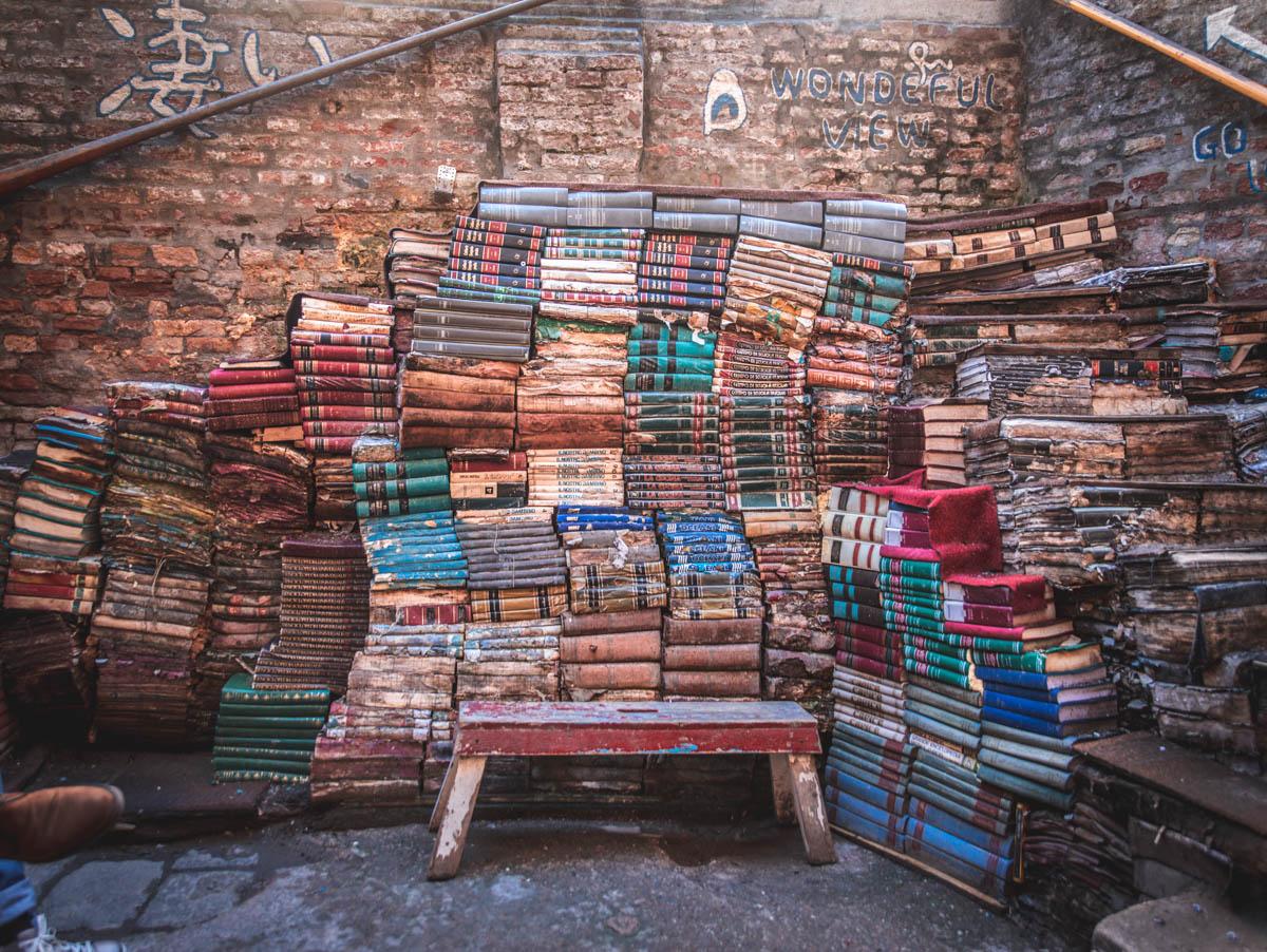 La libreria veneziana Aqua Alta