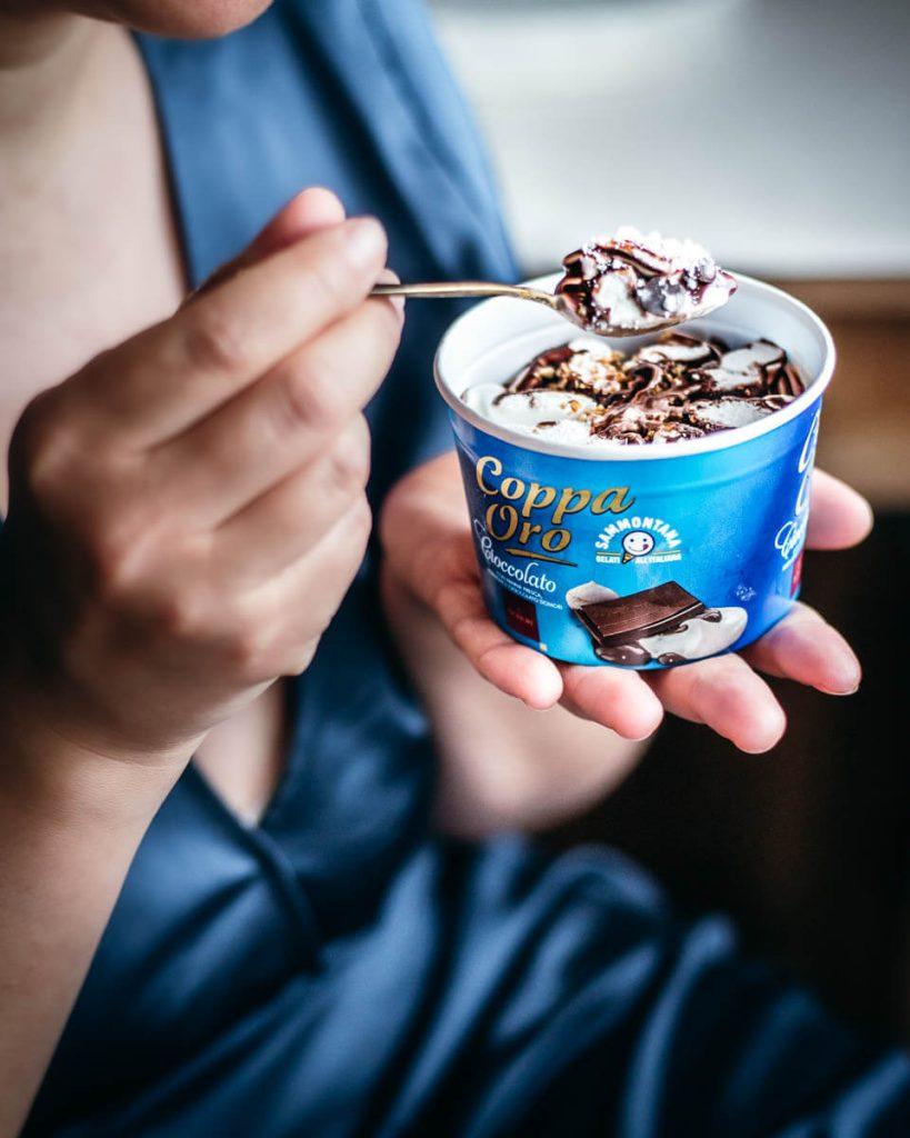 Coppetta di gelato Sammontana