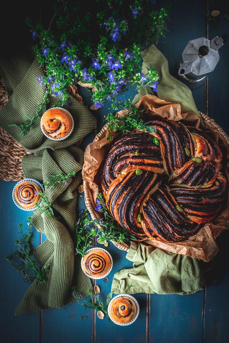 Babka rotonda al cioccolato