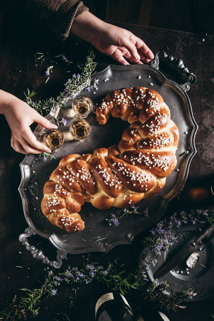 Treccia di pan brioche
