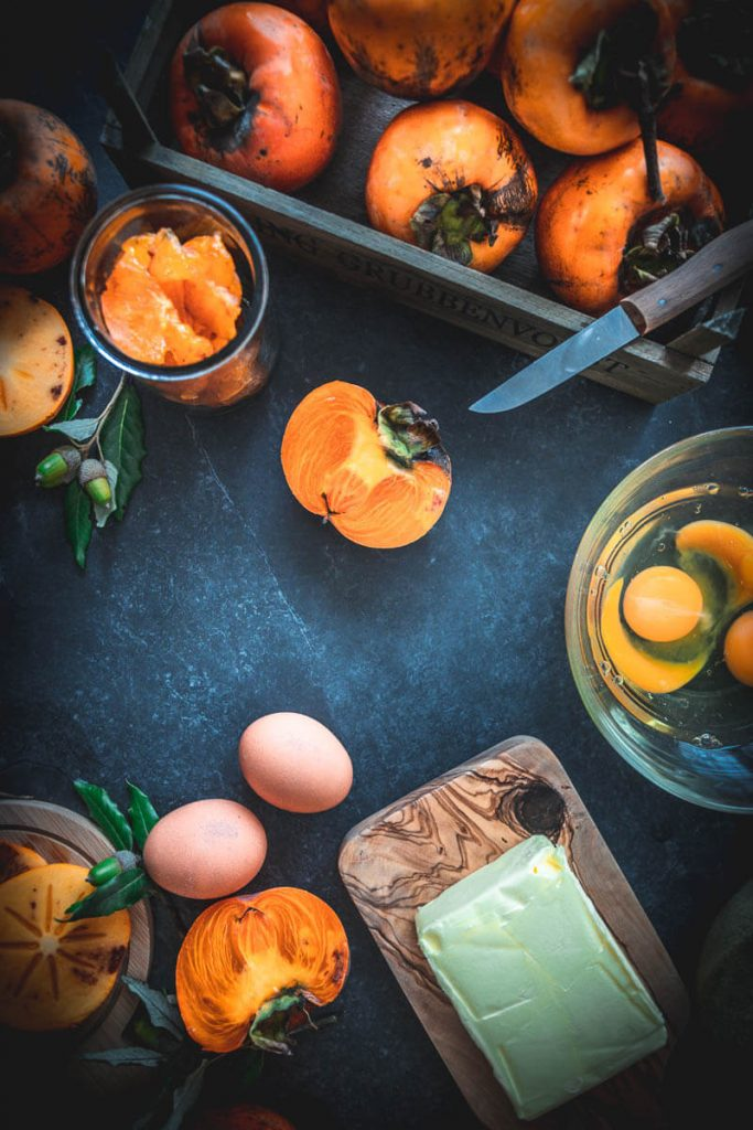 Persimmons Cachi food styling