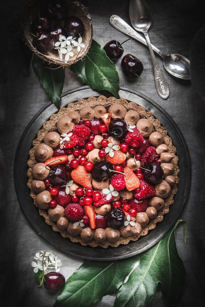 Torta vegana con cioccolato
