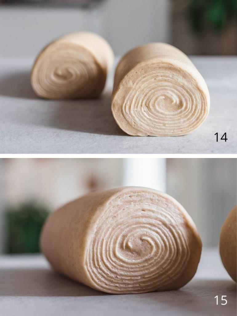 Ricetta Brioche sfogliata al miele e burro salato - i passaggi illustrati della laminazione