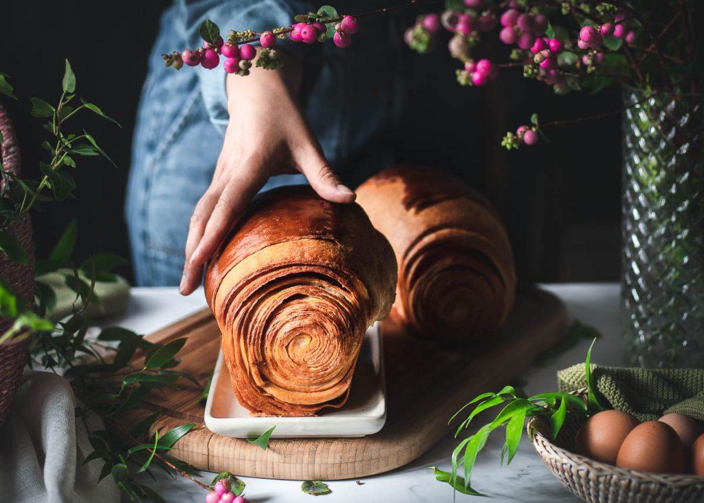 Brioche sfogliata al miele e burro salato - come realizzare un pan brioche sfogliato