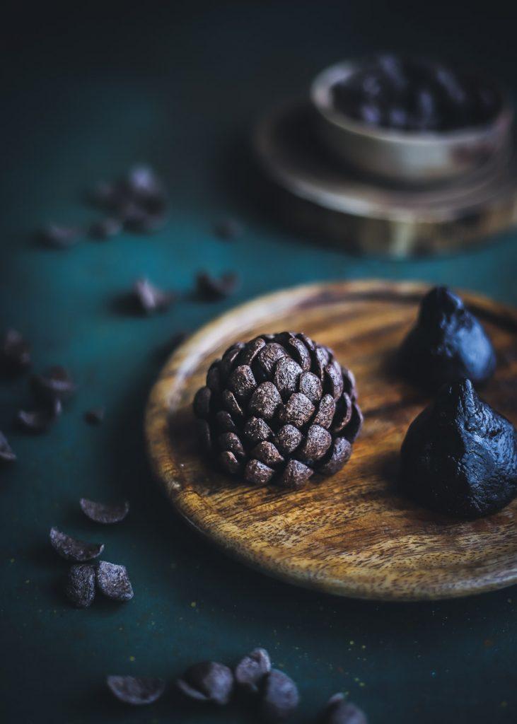 Pigne di cioccolato semplici da realizzare