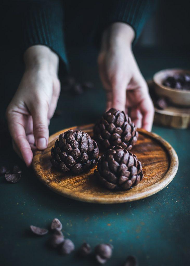 Come fare le pigne di cioccolato